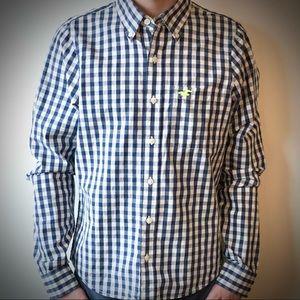Hollister Blue\White Button Down Shirt